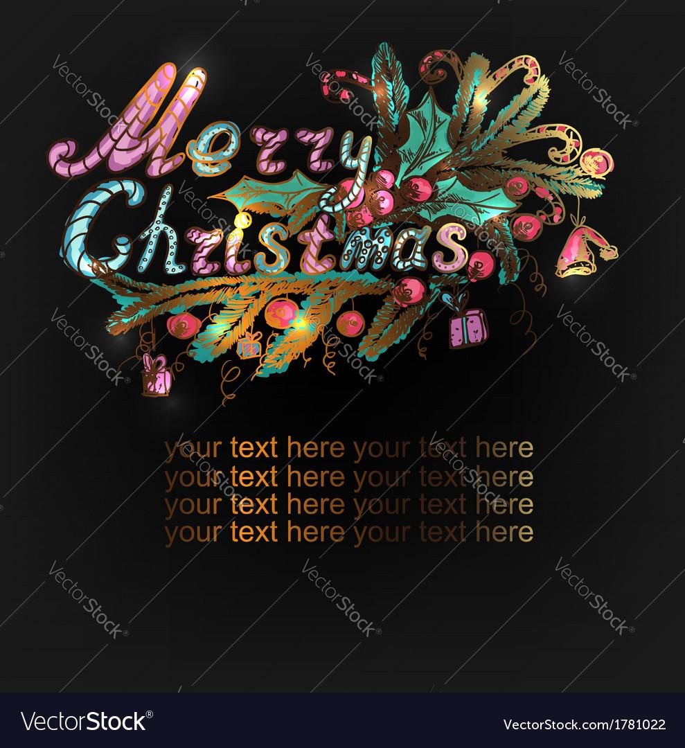 Hand-drawn Christmas banner