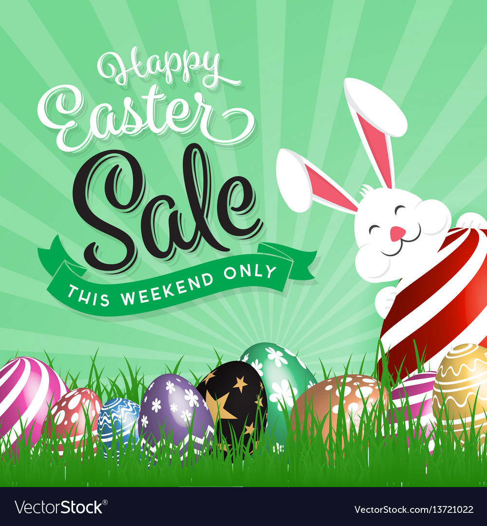 Happy easter sale promotion