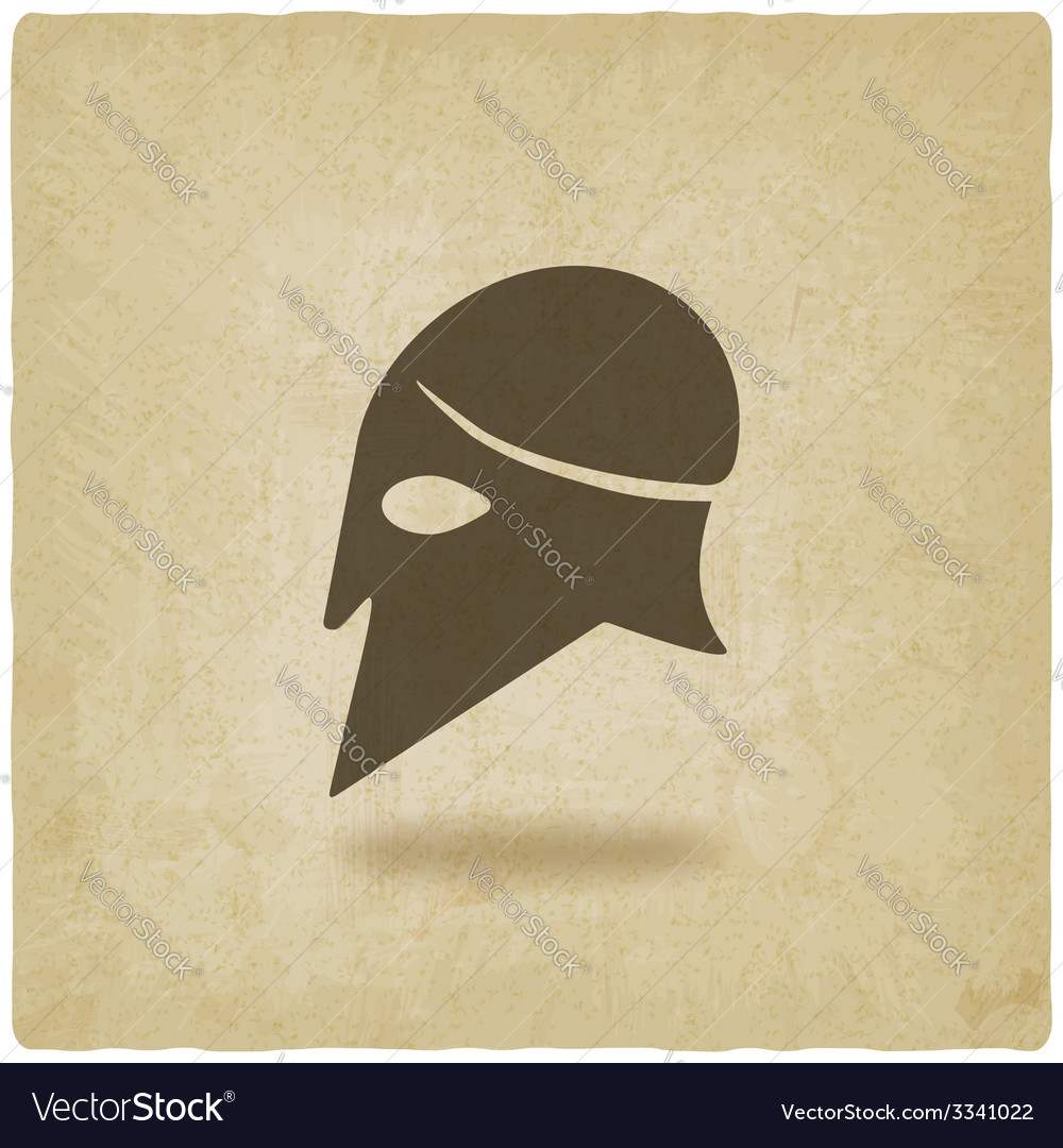 Helmet icon old background vector image