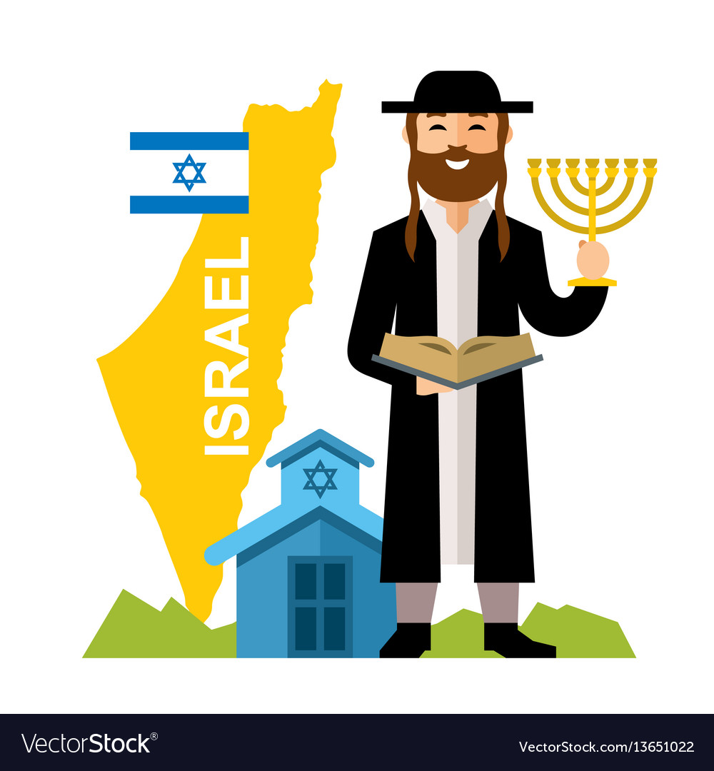 Israel country concept flat style colorful