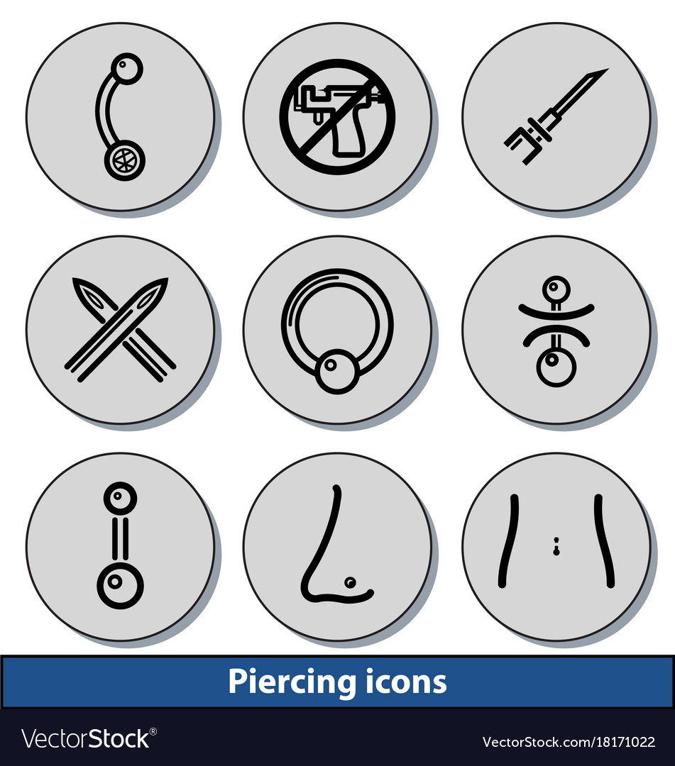Light piercing icons