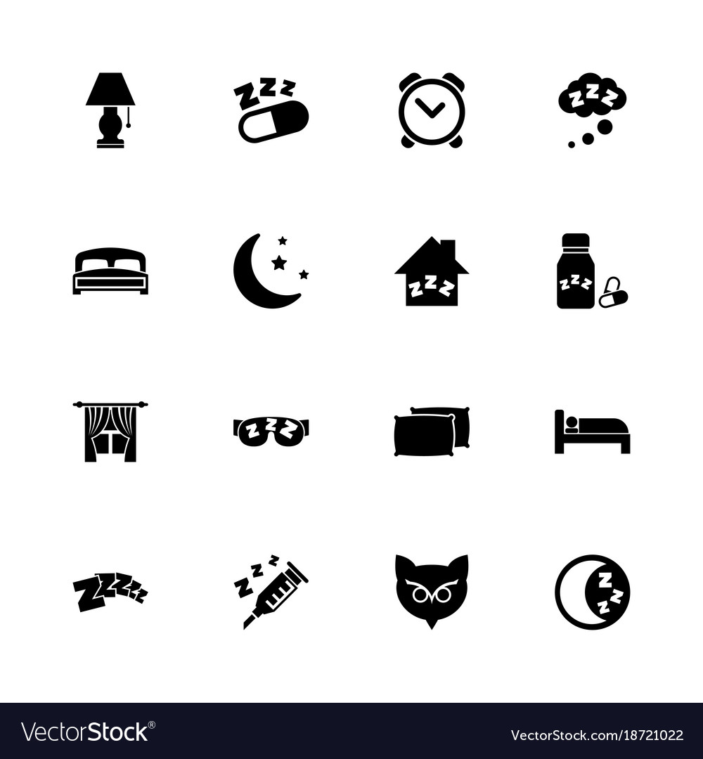 Sleep - flat icons