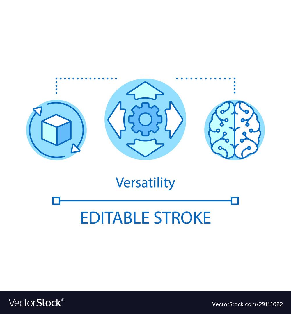 Versatility advantage concept icon