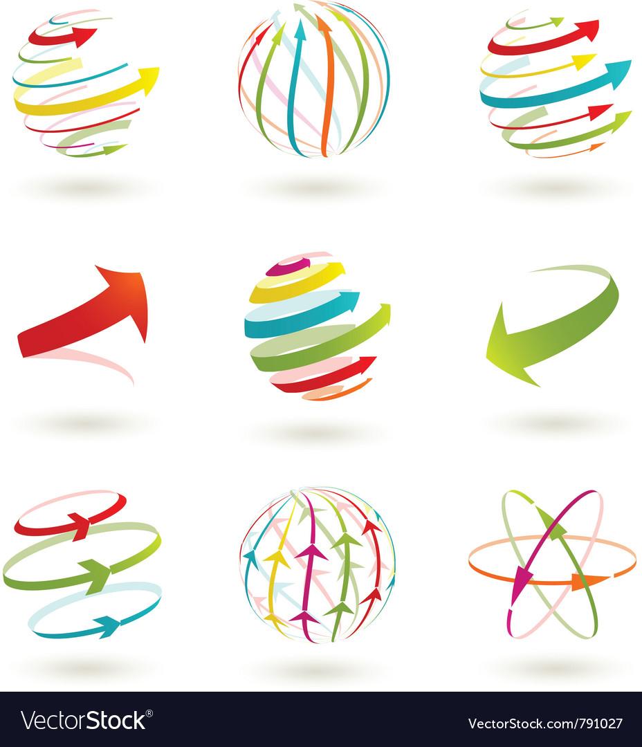 Arrow globe vector image