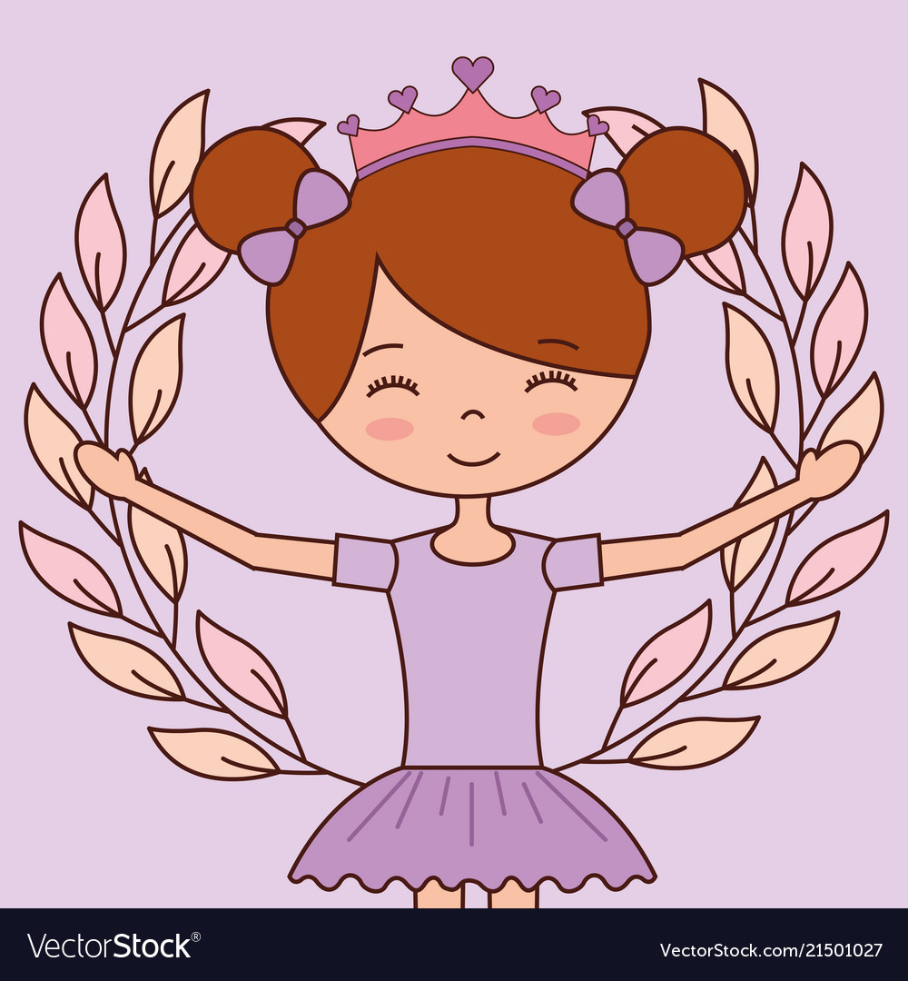 Beautiful ballerinas ballet cartoon character