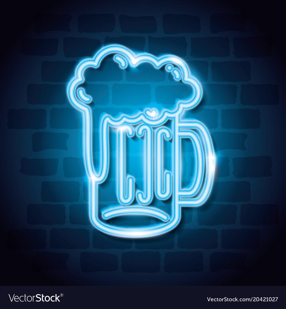 Beer drink neon label