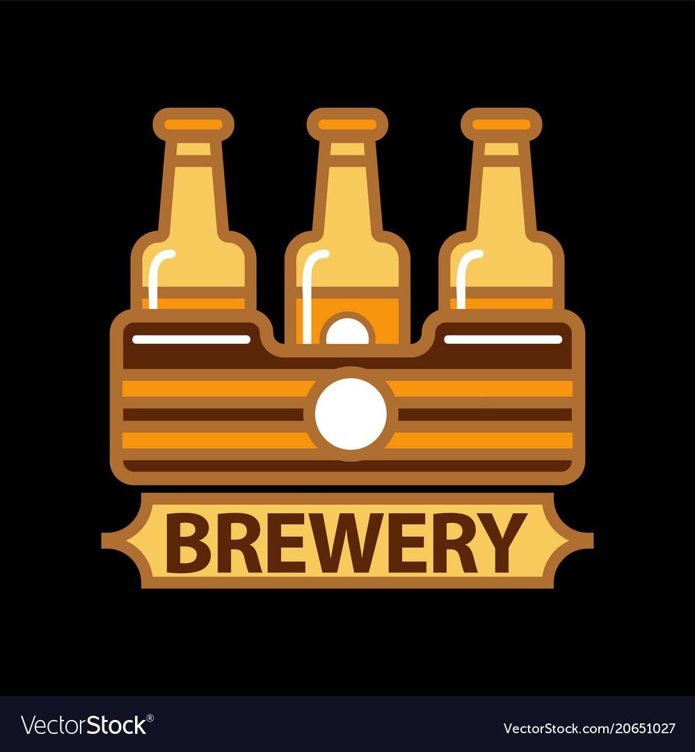Beer logo template design