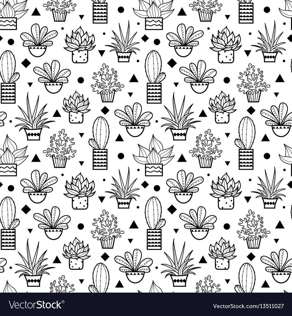 Black seamless repeat pattern with growing