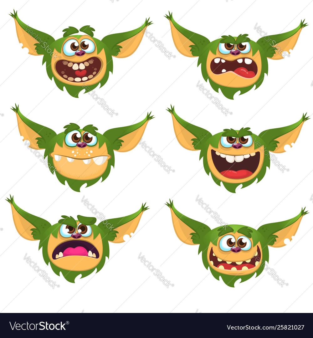 Cartoon funny monsters set