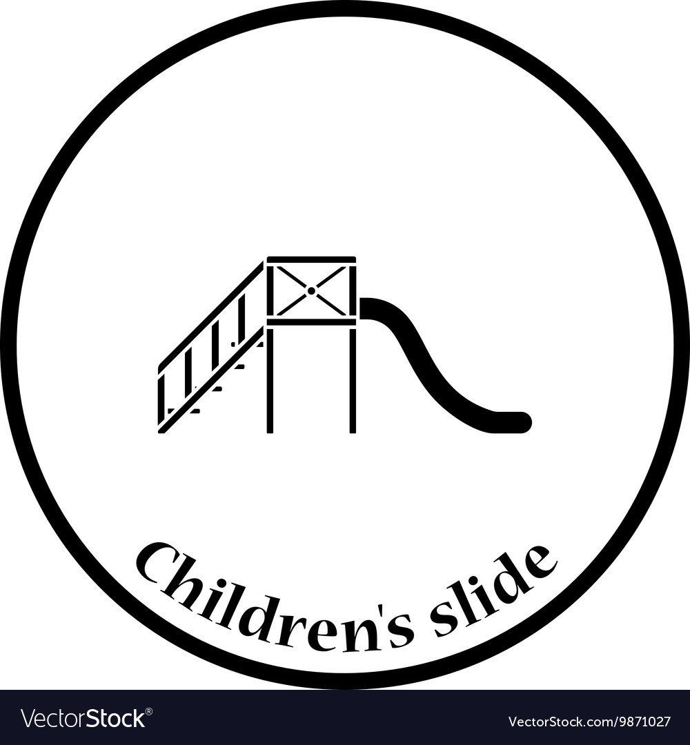 Childrens slide icon