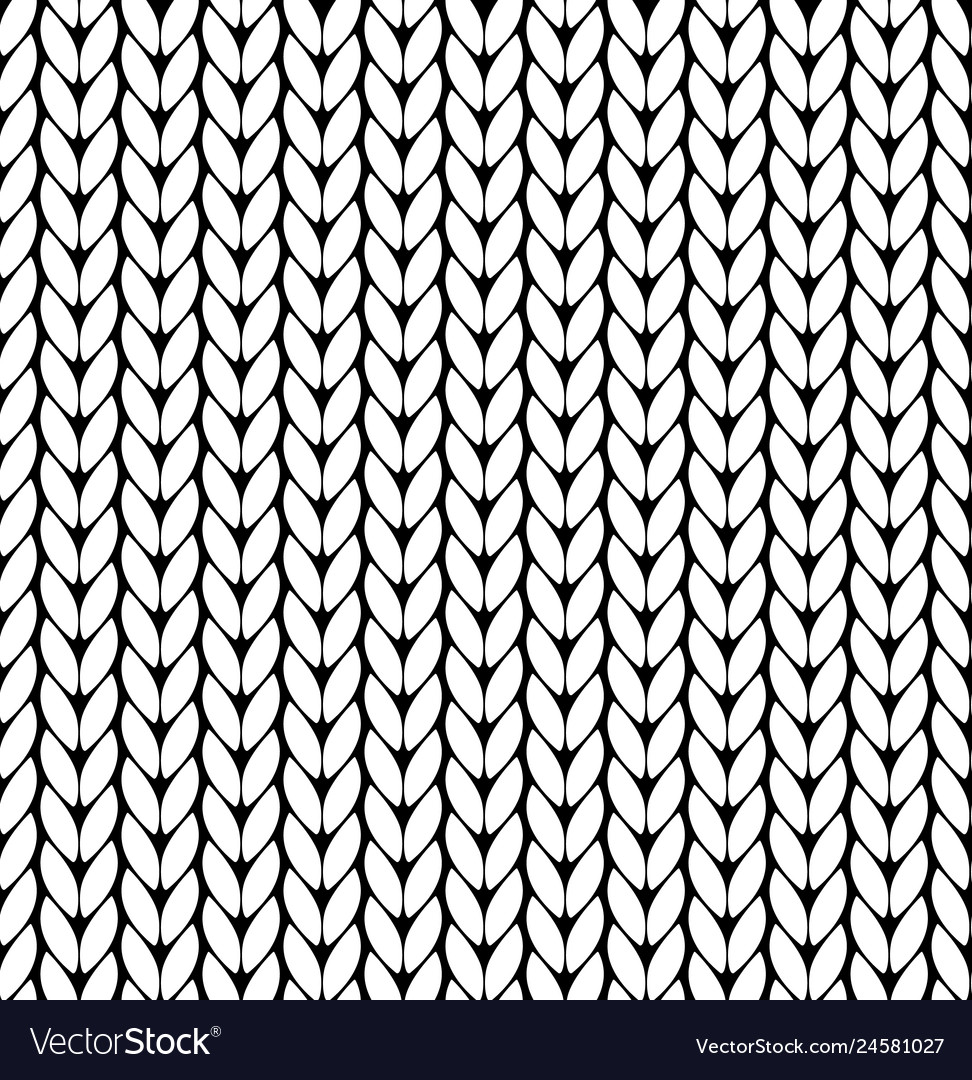 Knitting pattern texture seamless Royalty Free Vector Image