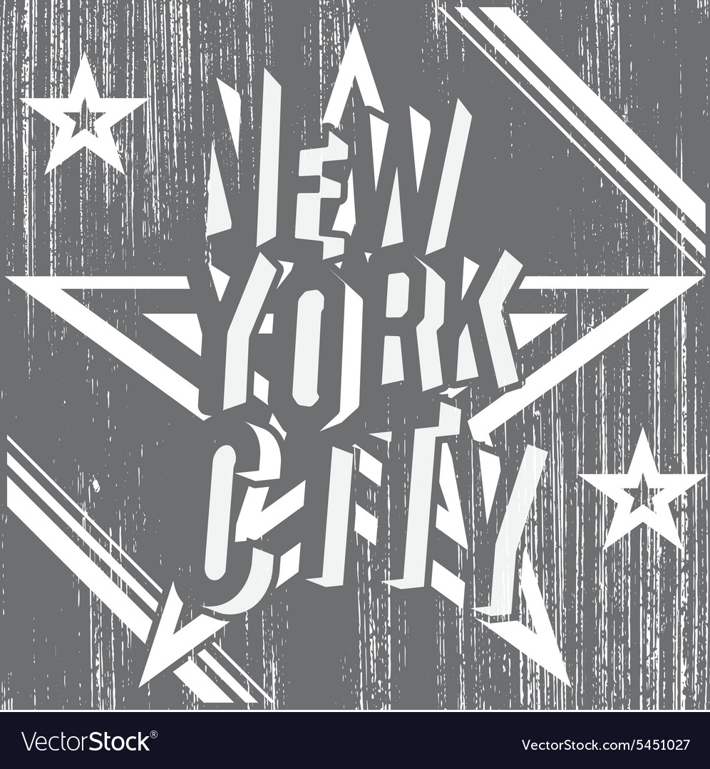 New York City grunge typography poster t-shirt