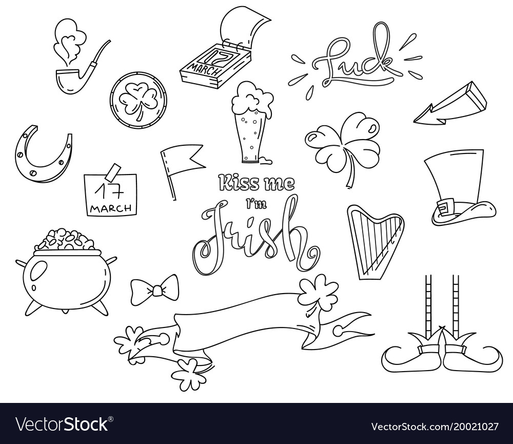 Outline elements for the irish st patricks day