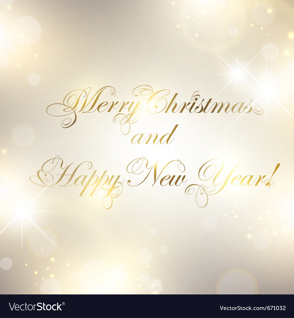 Christmas and new year greetings Royalty Free Vector Image