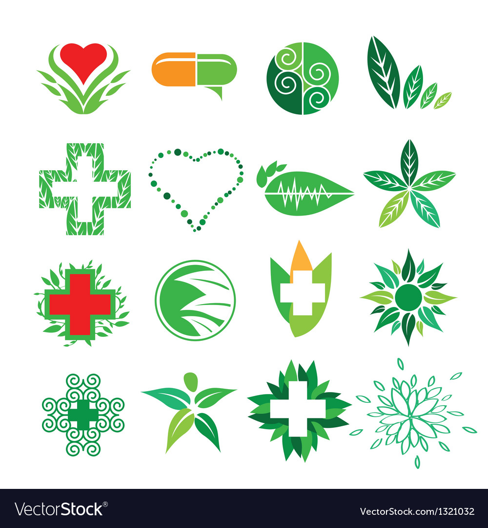 Collection of logos of Medicine and Pharmac