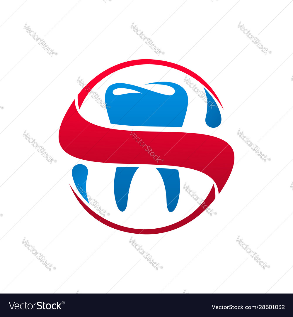 Dental clinic tooth and dentist icon