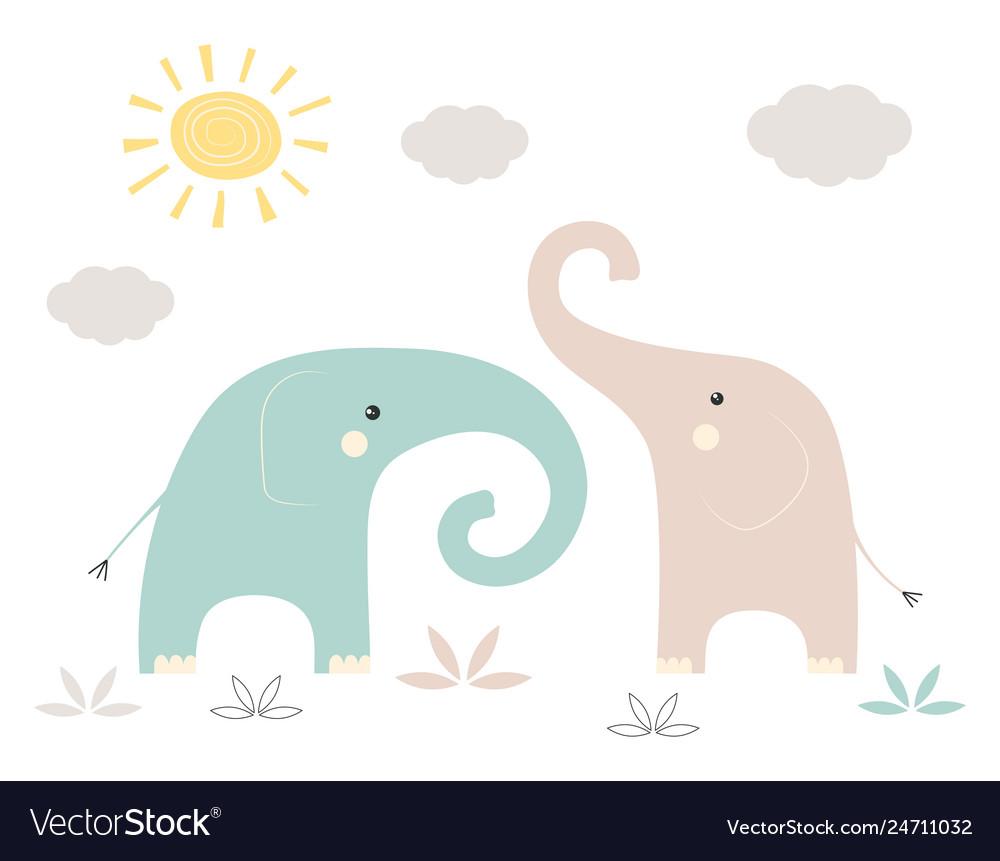 Funny kids print elephant