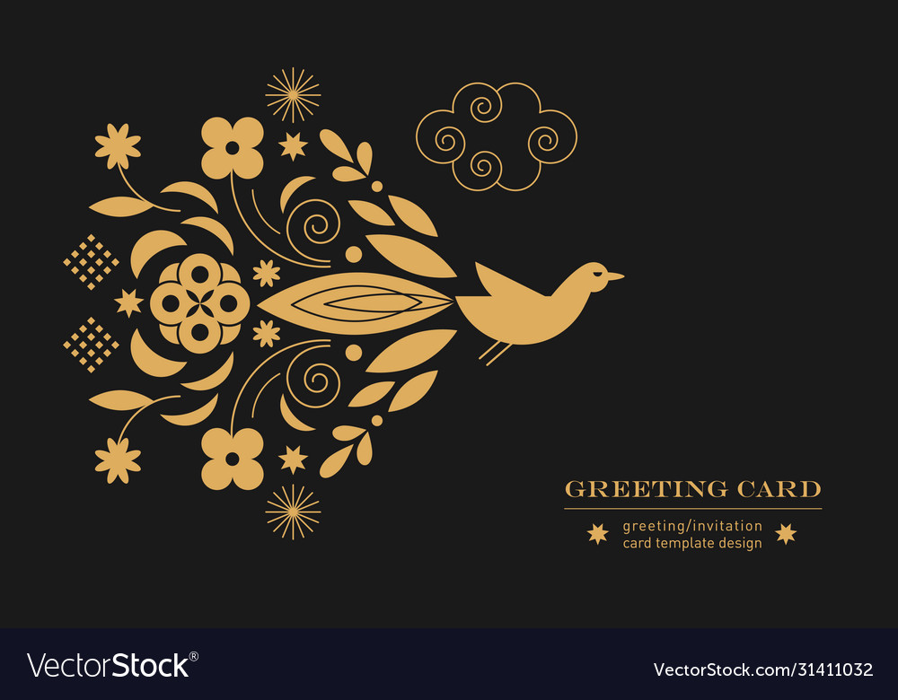 Greeting or invitation card banner poster templ