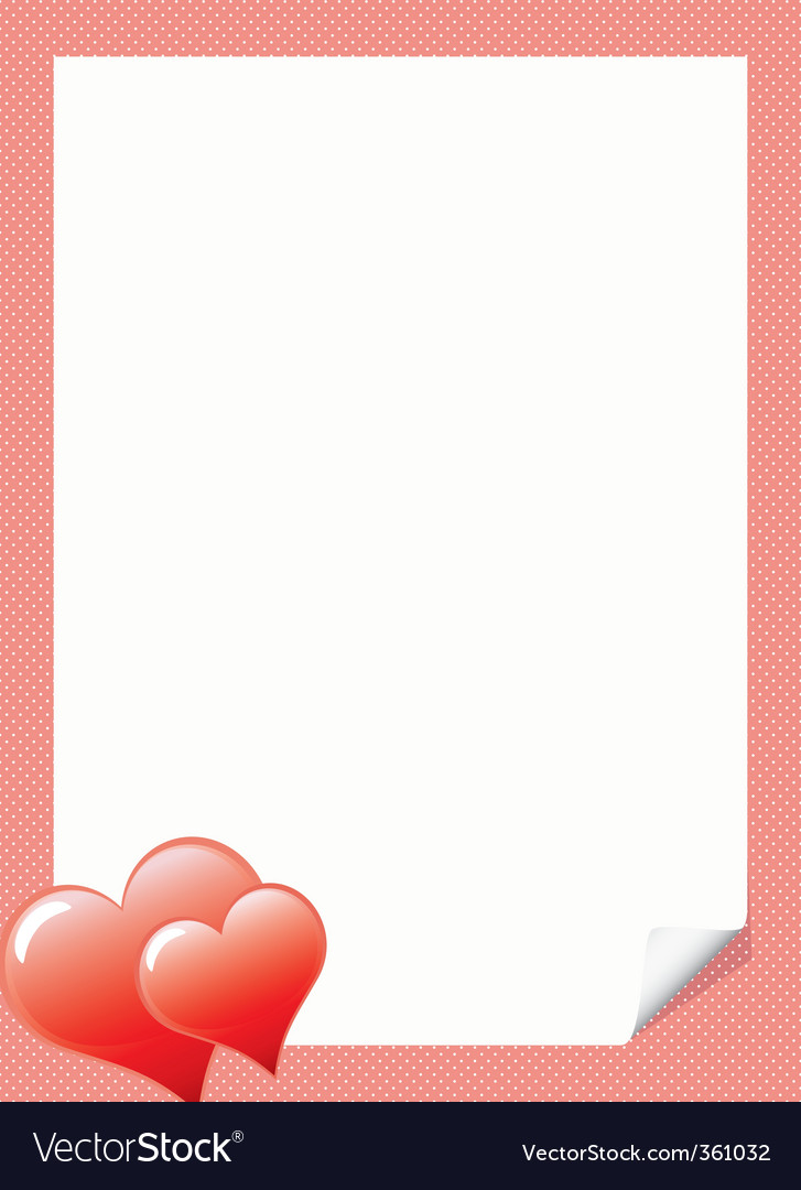 Love Letter Background Template Love Letter Template With Hear