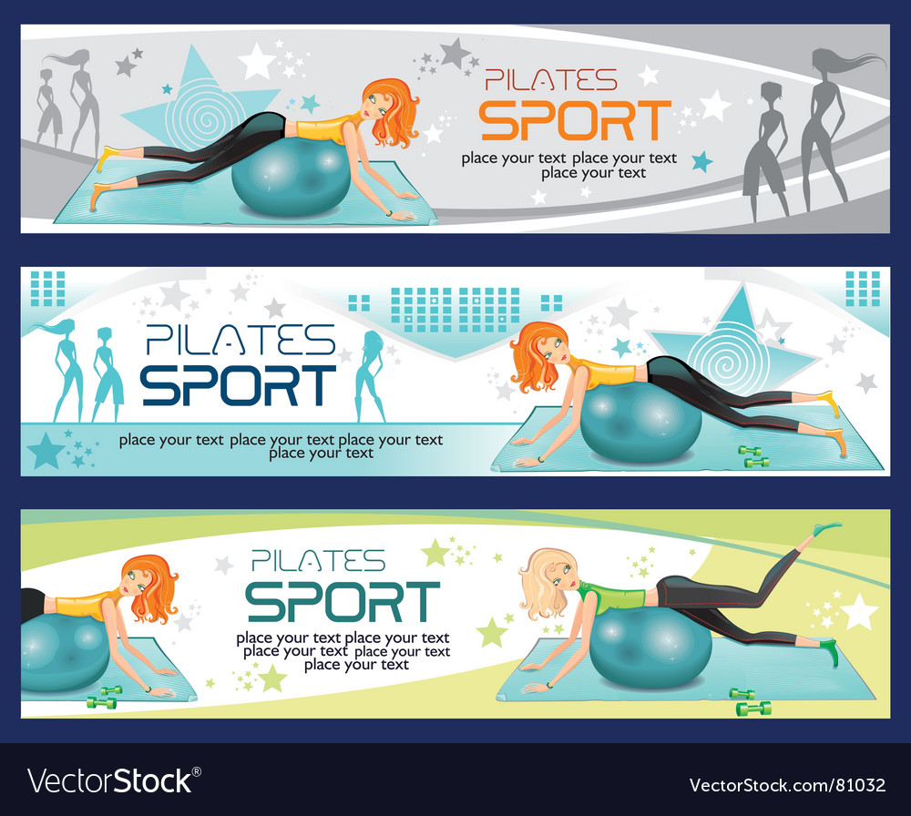 Sporty girl banners