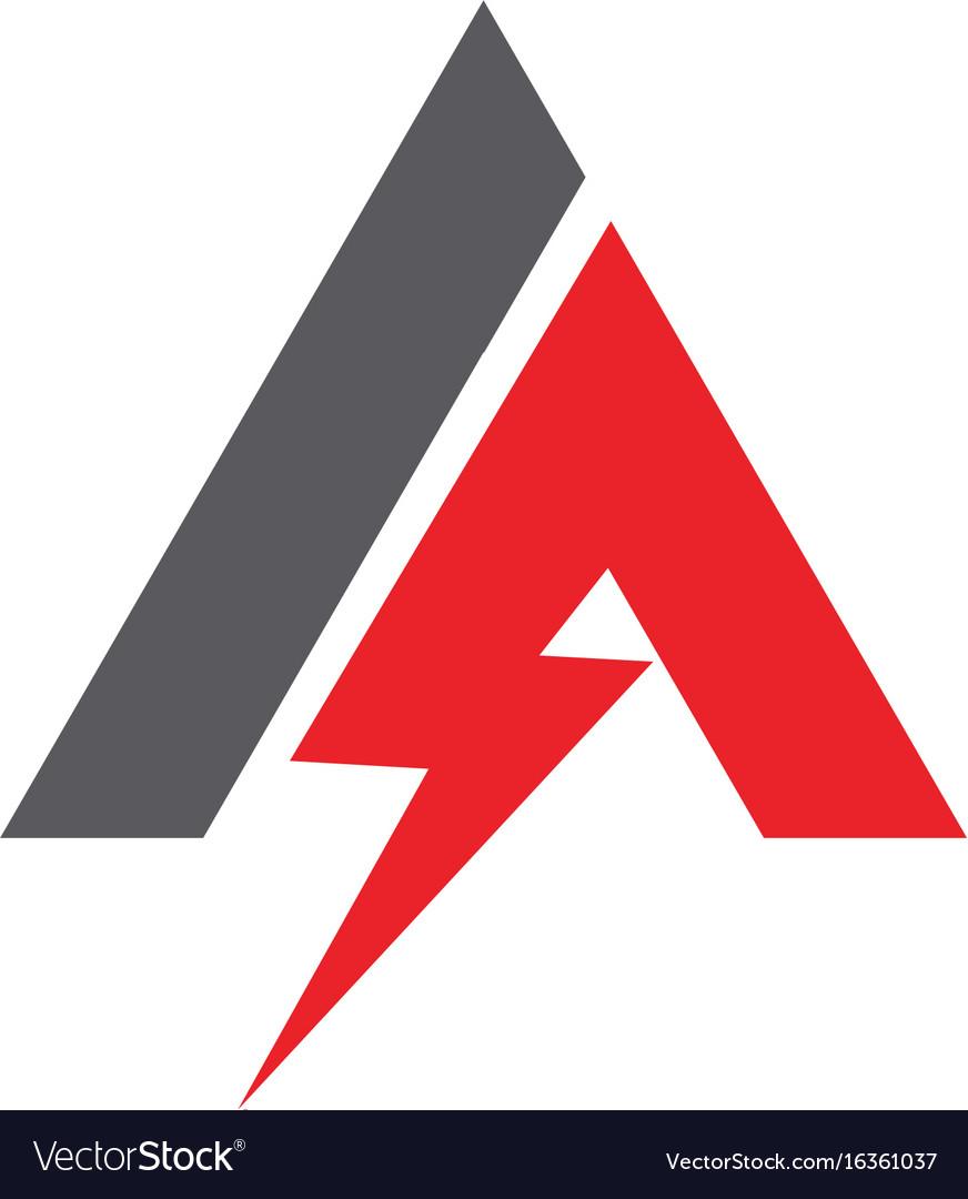 a letter lightning logo template icon design vector image