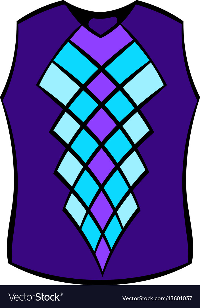 Blue vest icon icon cartoon