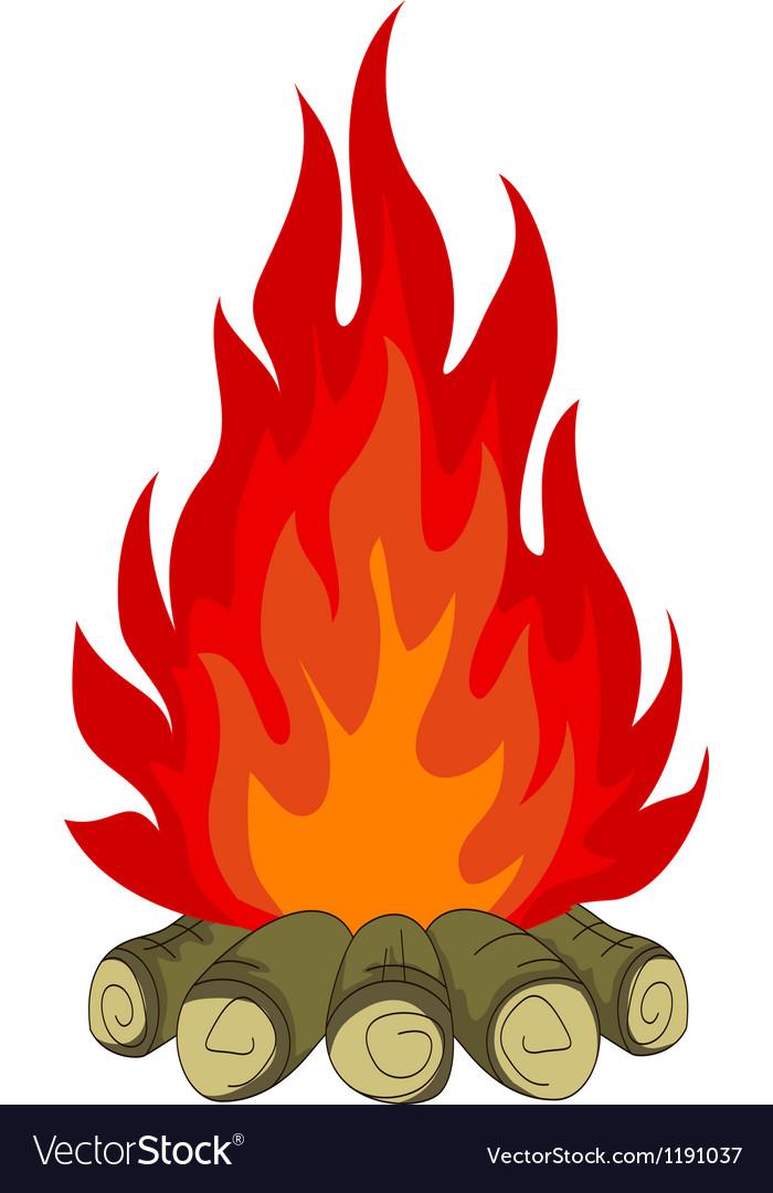 bonfire isolated for you design royalty free vector image rh vectorstock com cartoon bonfire images cartoon bonfire night images