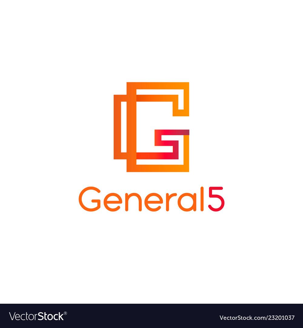 Letter g logoabstract g logo design