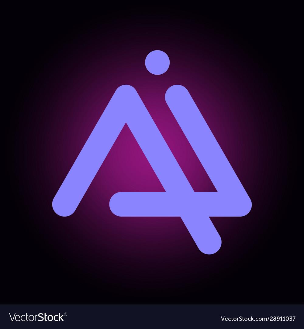 Letters ai a i logo multi colour icon