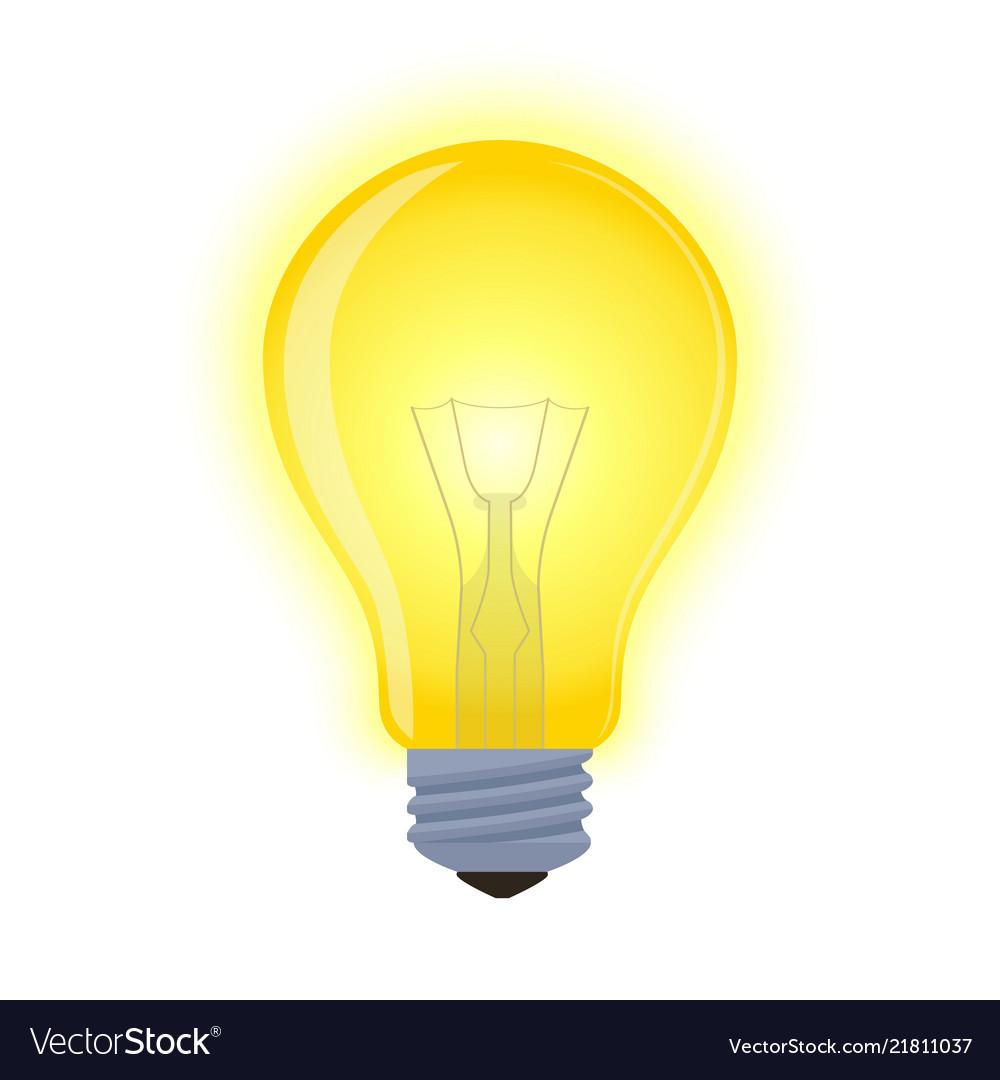 Light bulb - glowing element shining lamp