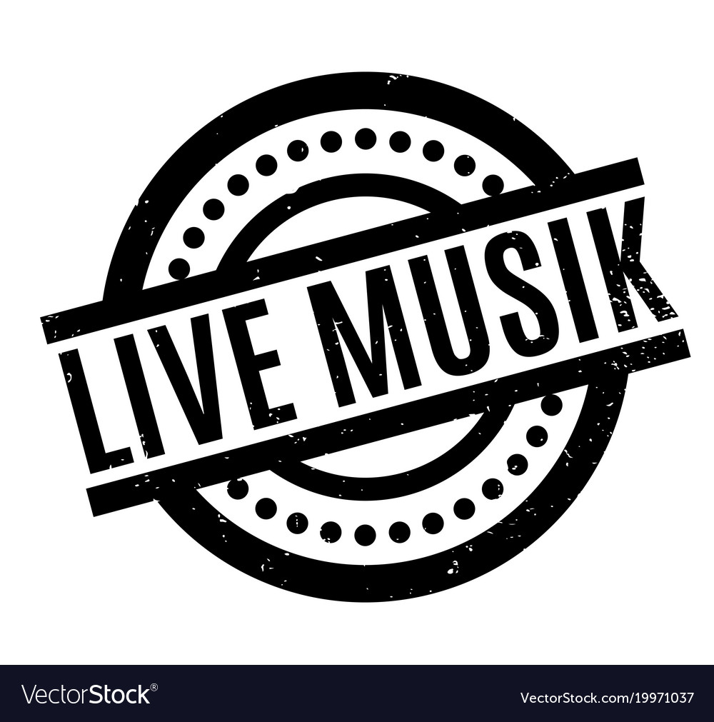 Live musik rubber stamp Royalty Free Vector Image