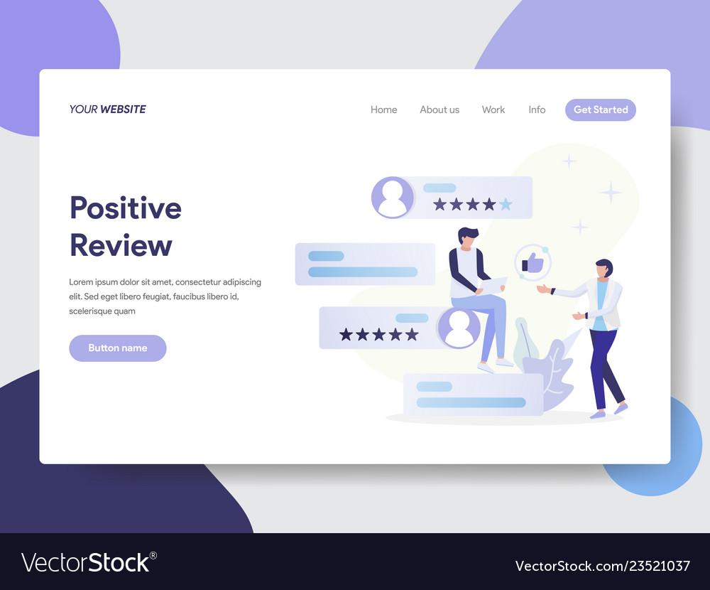 Positive review concept