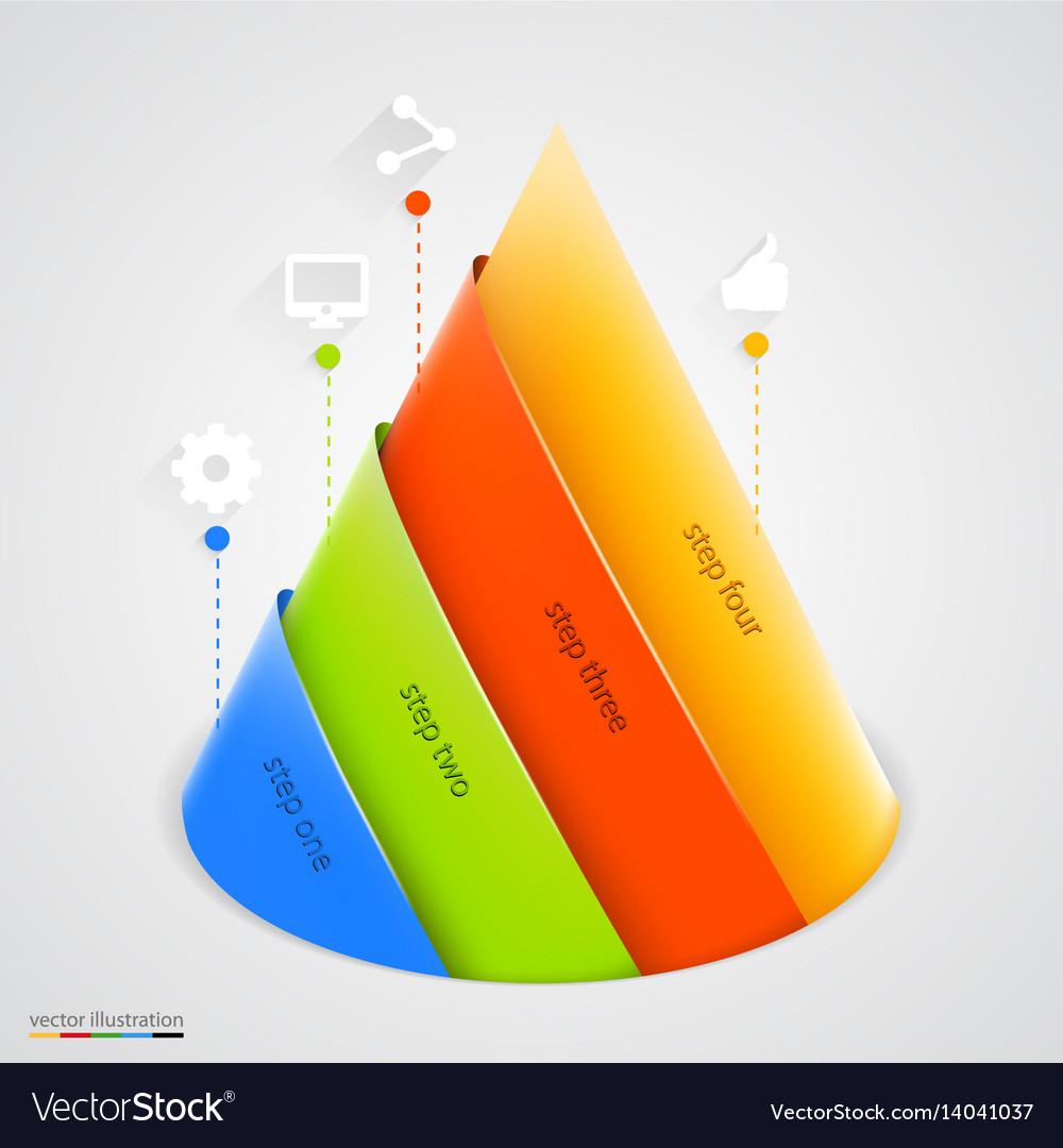 Pyramid infographic design template