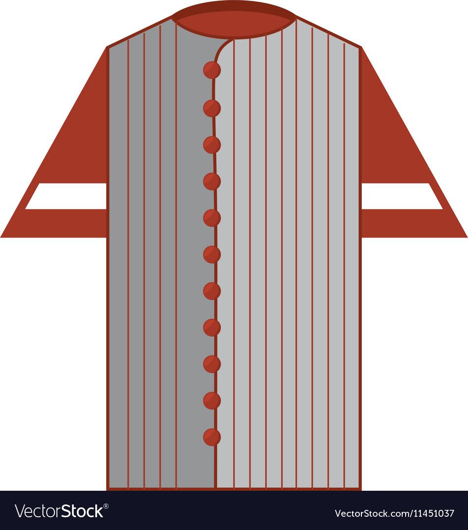 Shirt uniform baseball team icon vector image