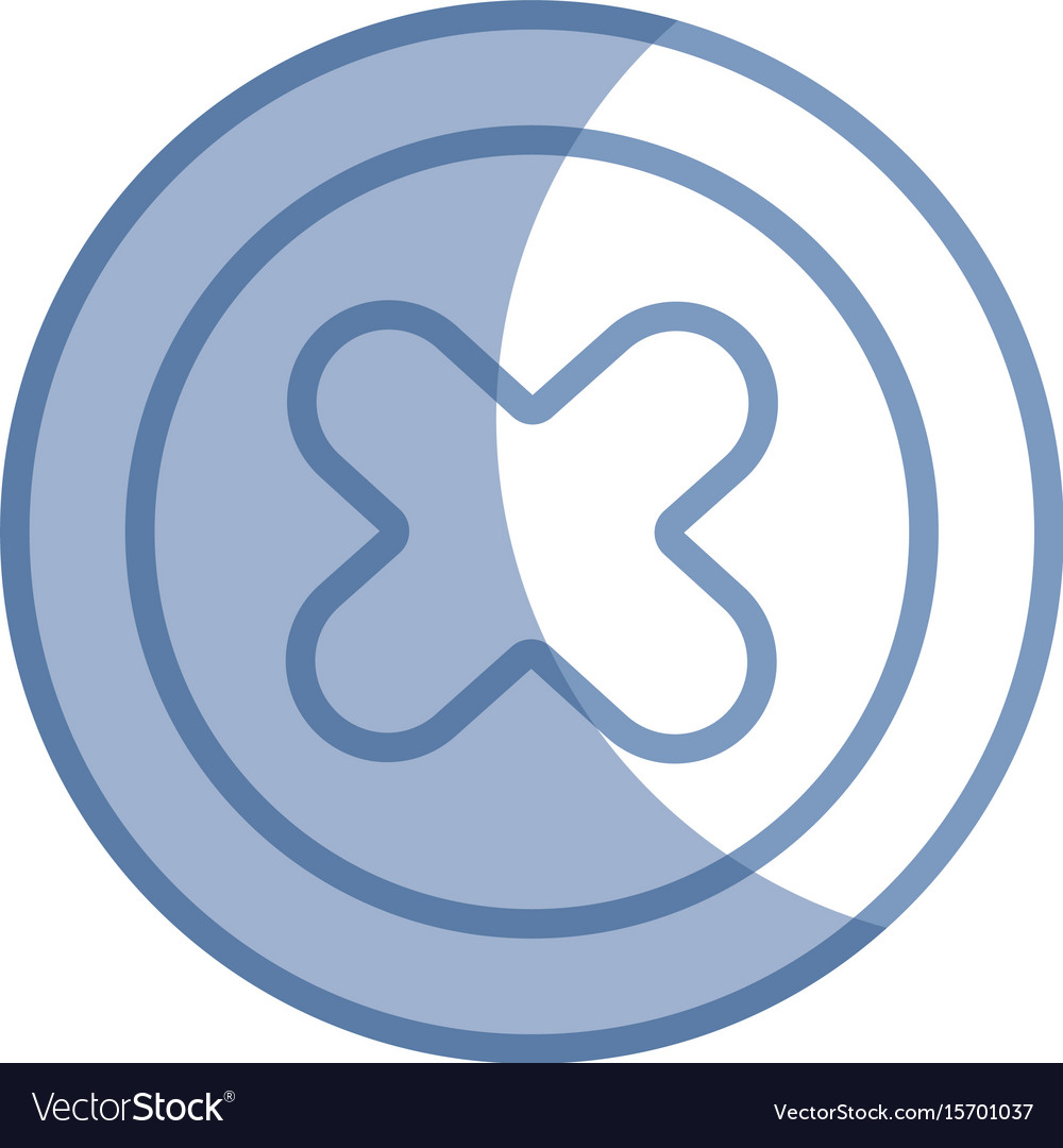 Silhouette x network symbol to web connection vector image