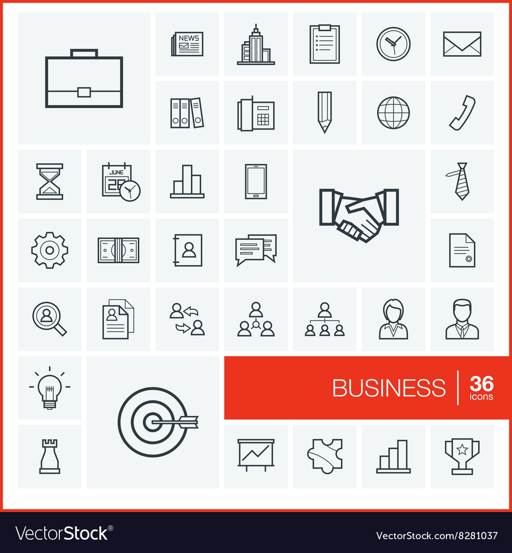 Thin line icons set and graphic design