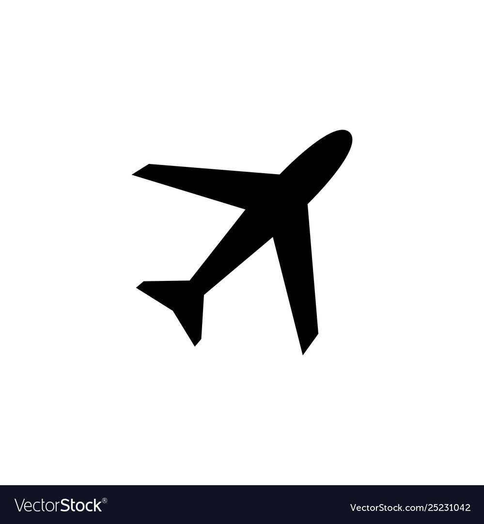 Airplane icon in flat style for app ui websites