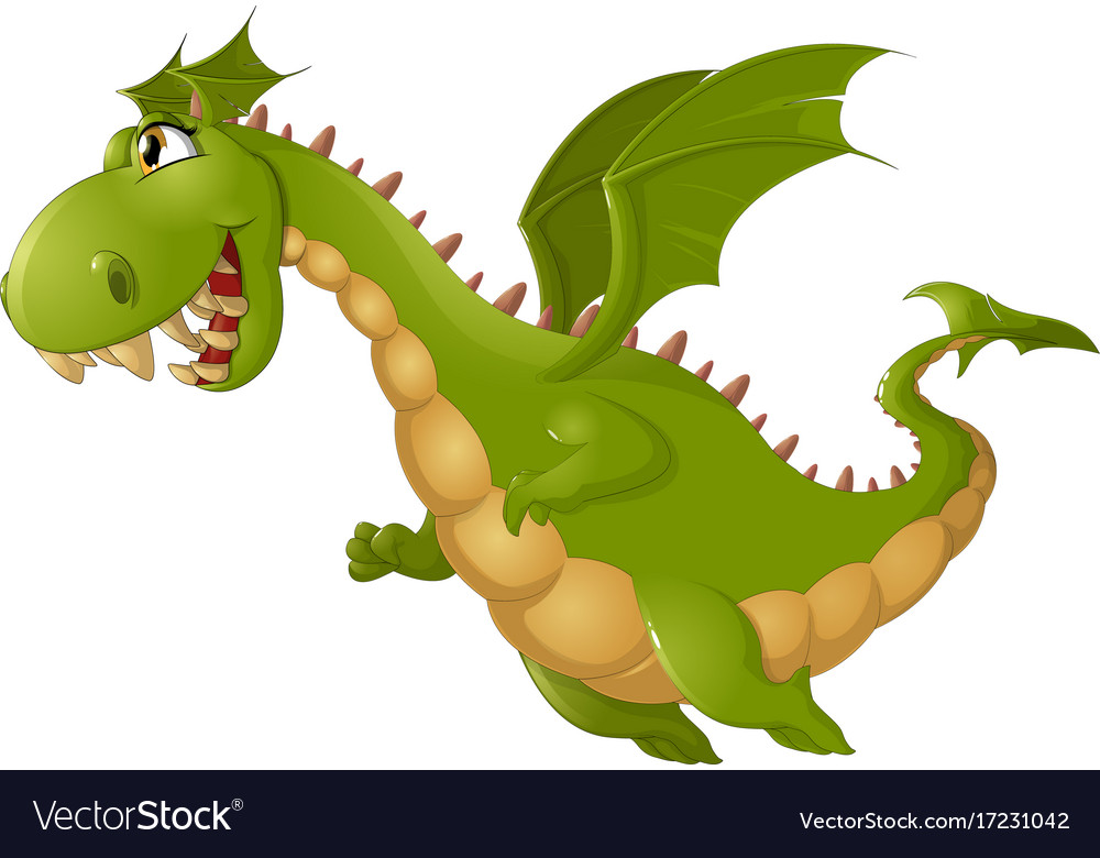 angry dragon cartoon royalty free vector image
