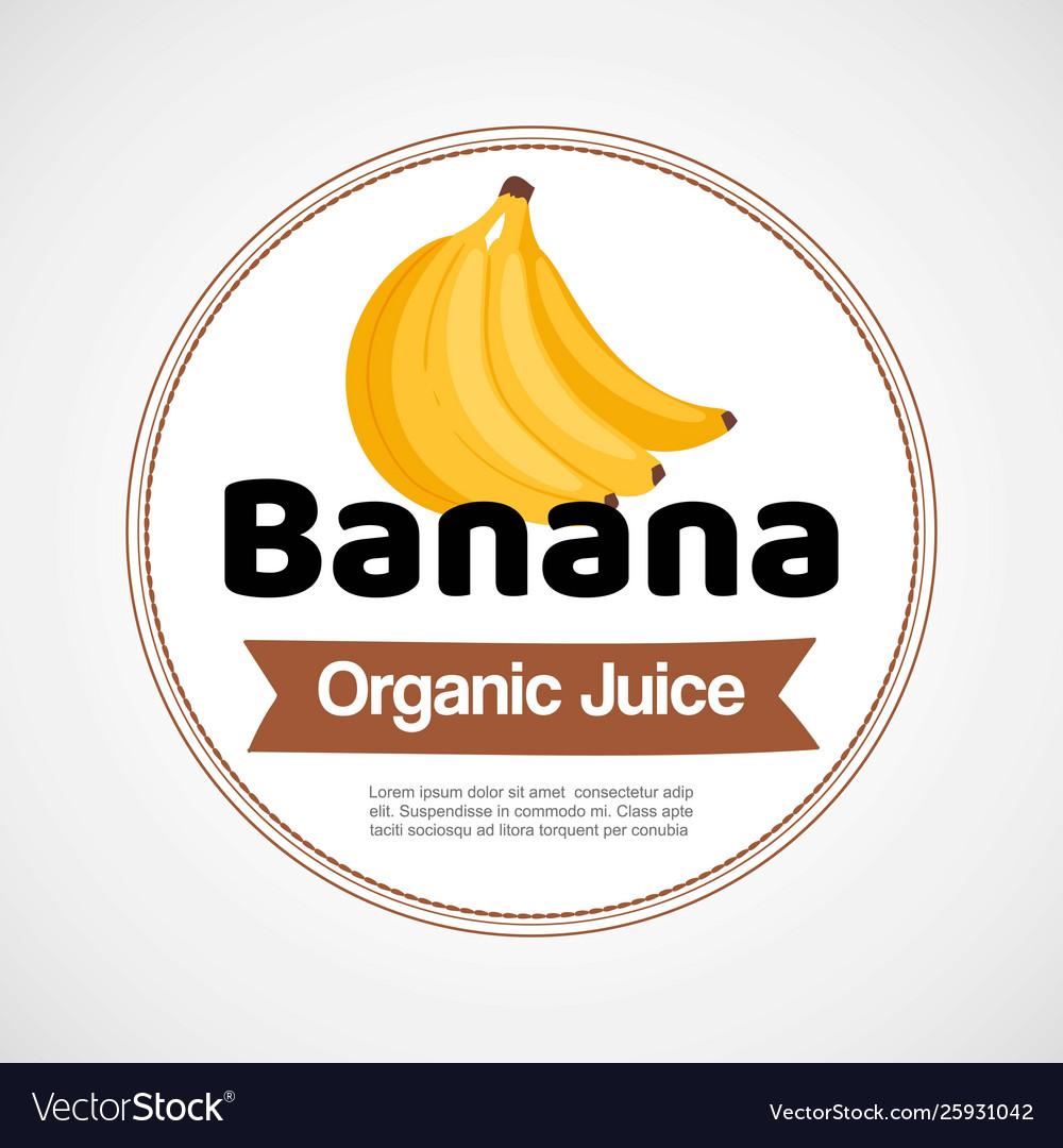 Banana label or logo in circle