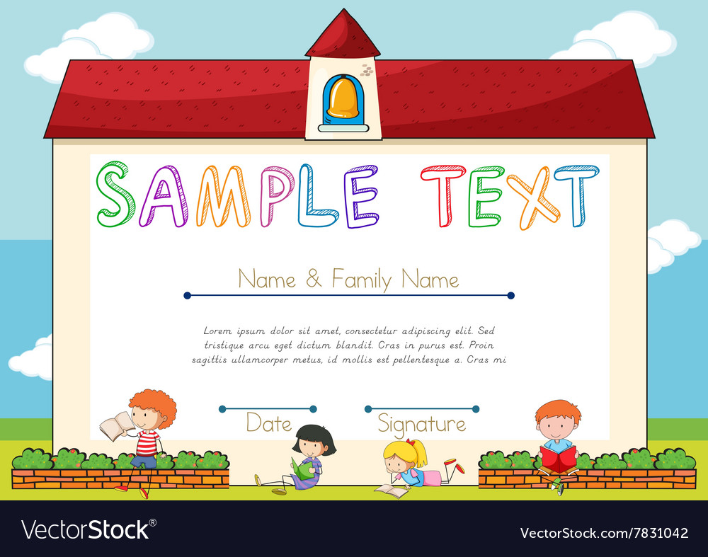 Outstanding Childrens Certificate Template Sketch - Certificate ...