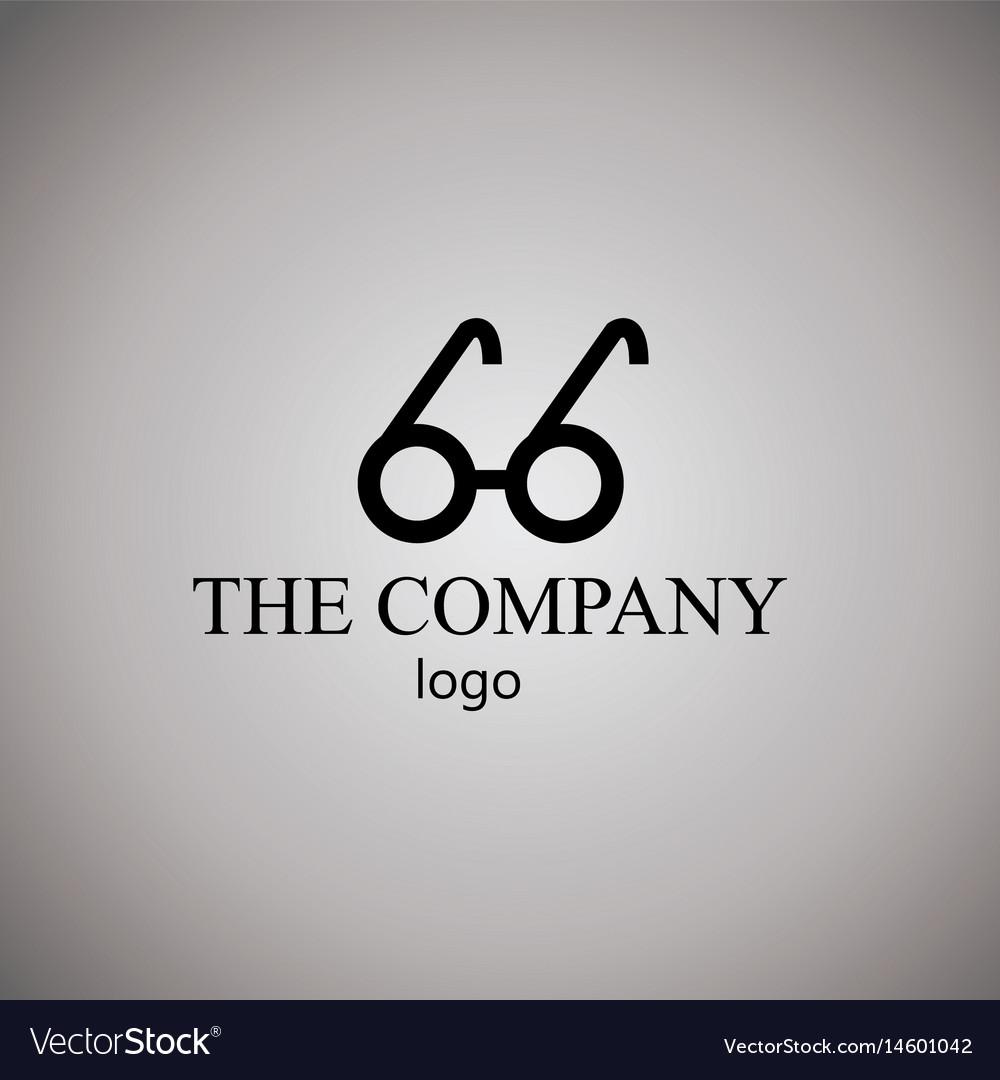 Eyewear logo vector image