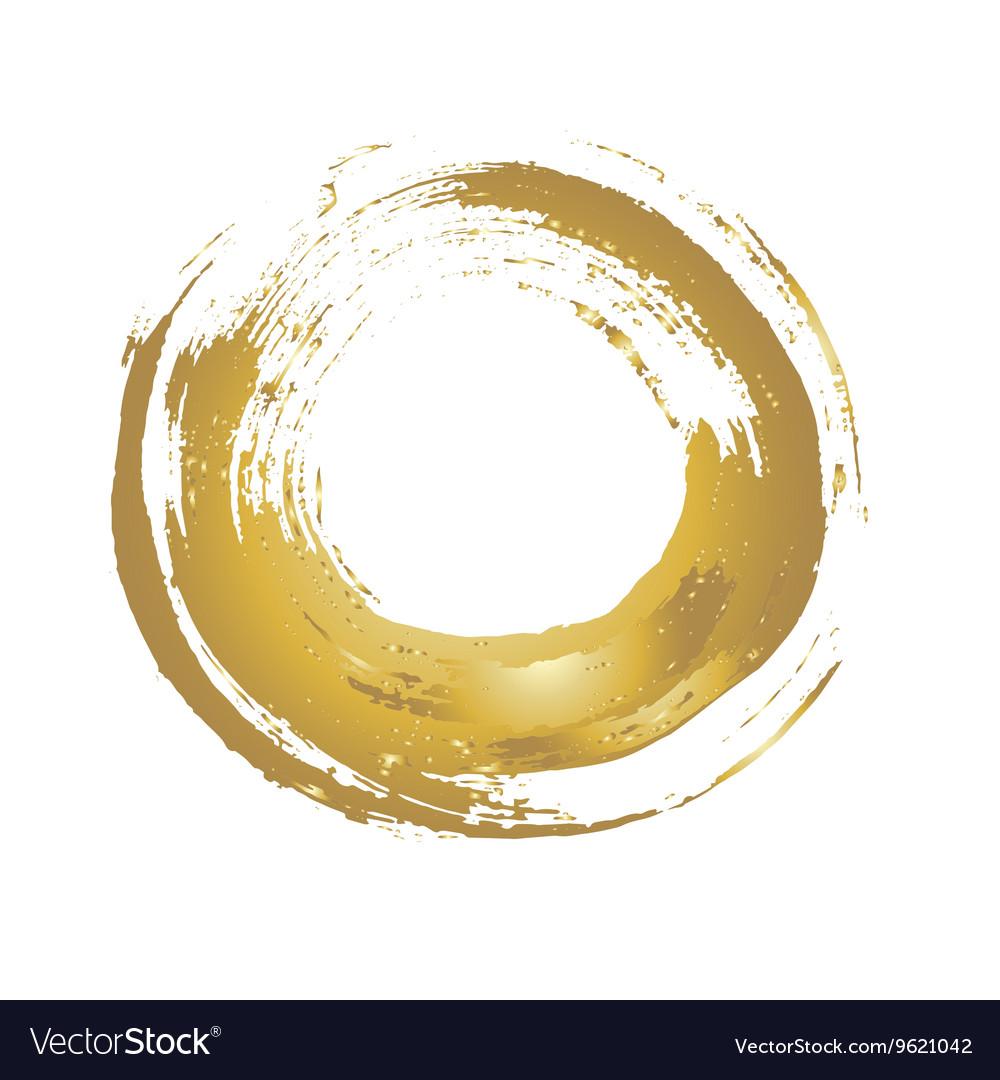 Golden grunge circle