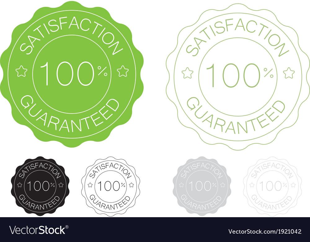 Green satisfaction guaranteed seal design set