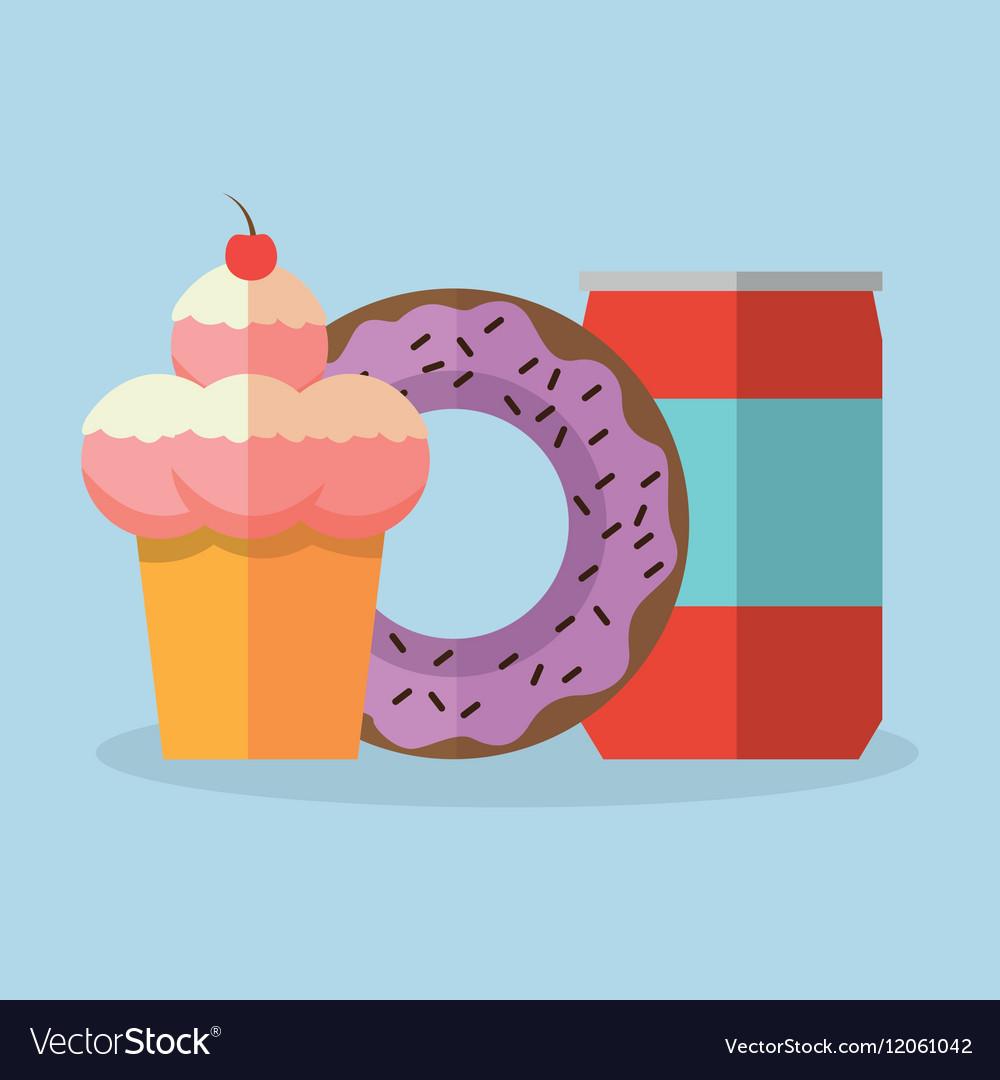 Ice cream and donut dessert design