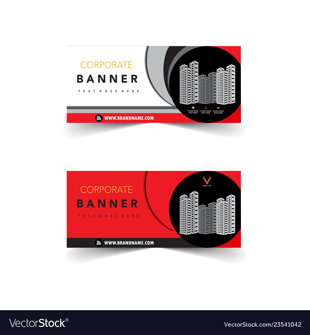 Red corporate banner design