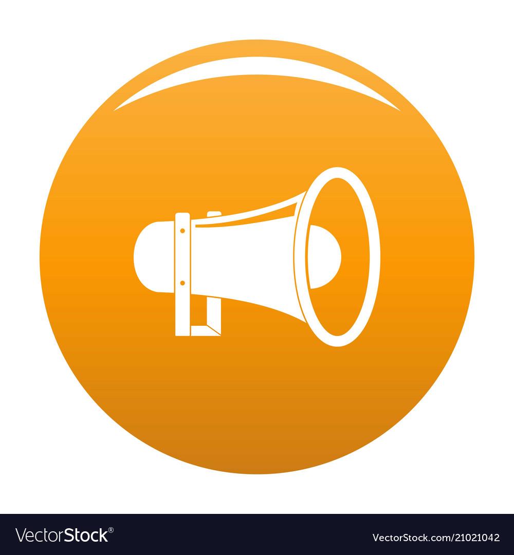 Sound of megaphone icon orange royalty free vector image sound of megaphone icon orange vector image publicscrutiny Gallery