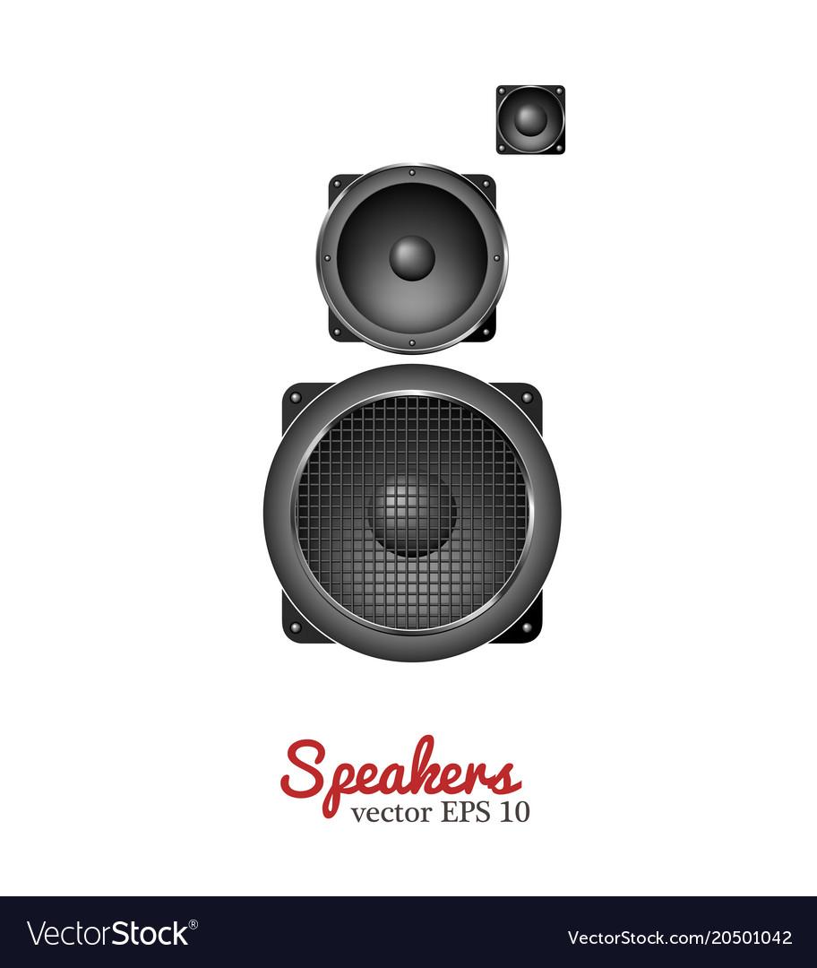 Sound speaker loudspeaker icon