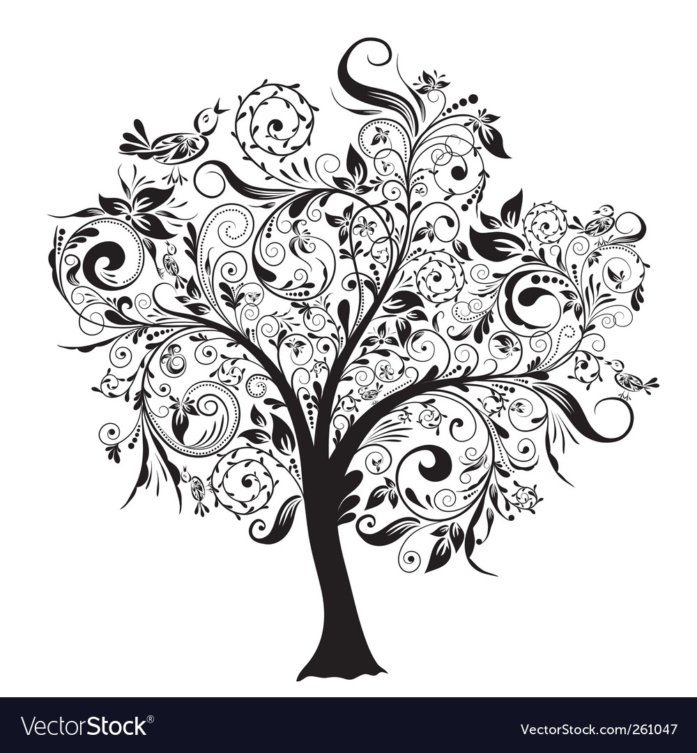 leaves illustration info deciduous tree decor vector clipart free without decorative panda ornamental images