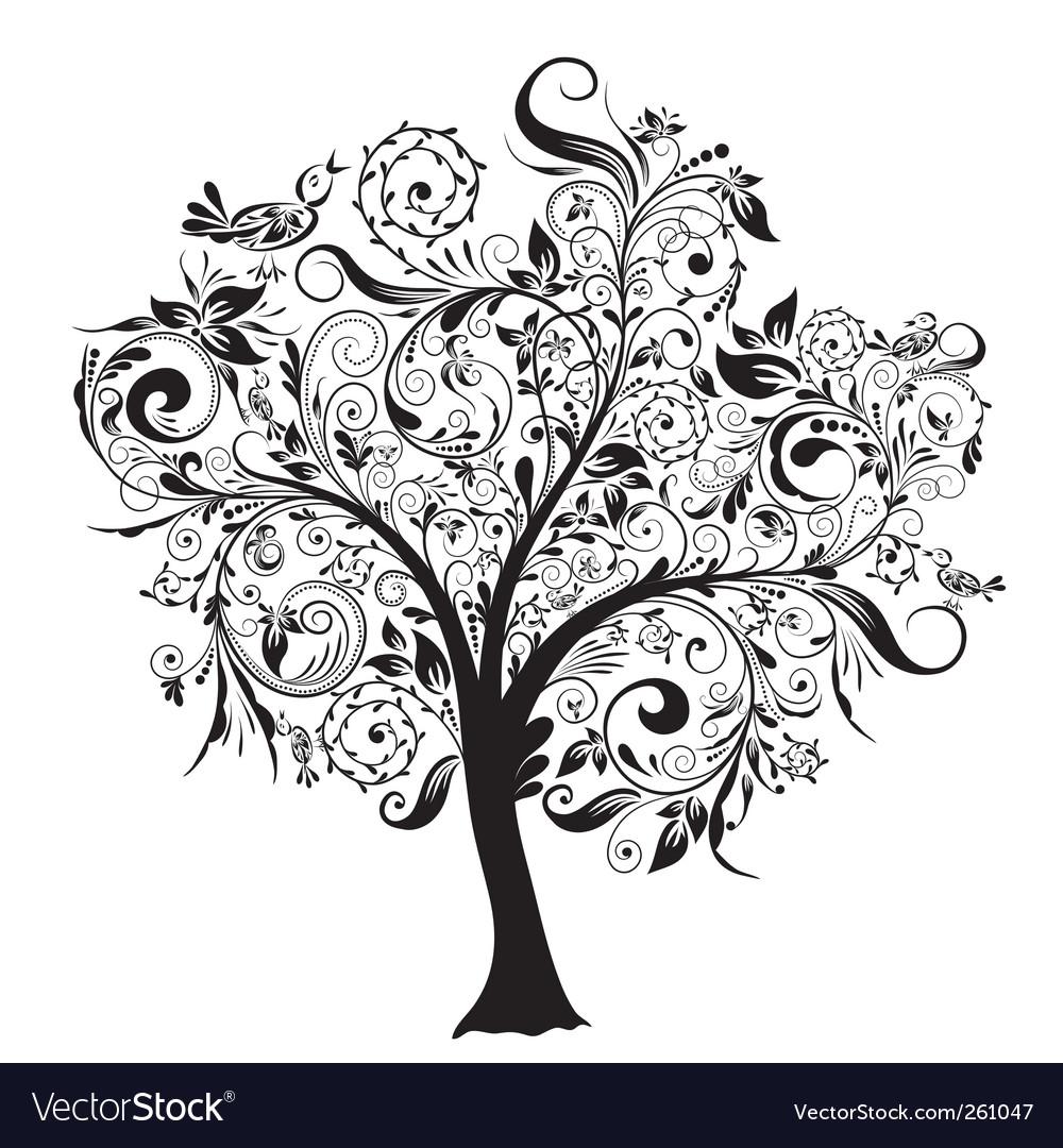 cliparts decorative vectors and vector decor stock free photo tree royalty