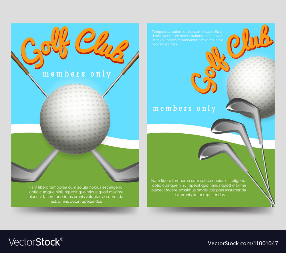 golf club brochure flyers template royalty free vector image